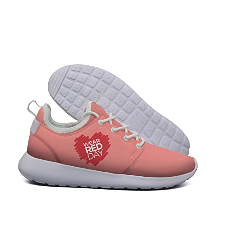 fbe8ad69ab11e Amazon.com: AEBBAKEK National Wear Red Day Light Running Shoes Men ...