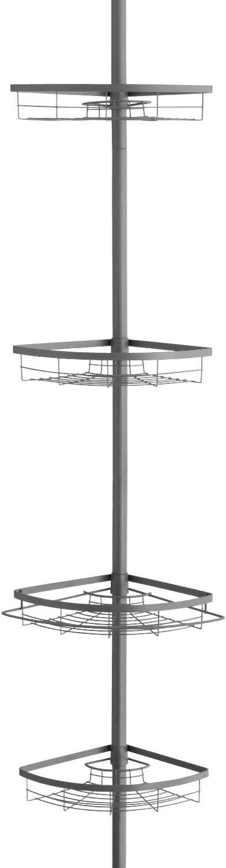 bremermann Estantería en Esquina telescópica máximo de Aprox. 290 cm (Gris)