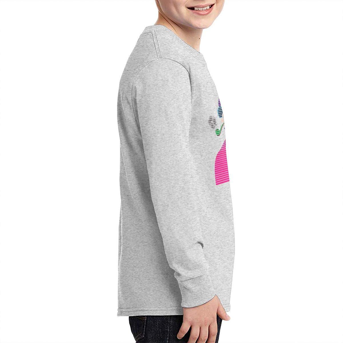 Lenny Kravitz Boys Fashion Classic Long Sleeve T-Shirt Boy Long Sleeve Cotton Round Neck T-Shirt