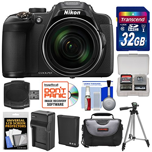 nikon-coolpix-p610-wi-fi-digital-camera-black-with-32gb-card-battery-charger-case-tripod-kit-certifi