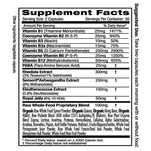 Adrenal Health - with Sensoril Ashwagandha for Improved Energy Levels, Sleep Support, Stress Relief, Promotes Mental Clarity - Emerald Laboratories - 60 Vegetable Capsules by Emerald Laboratories (Image #1)