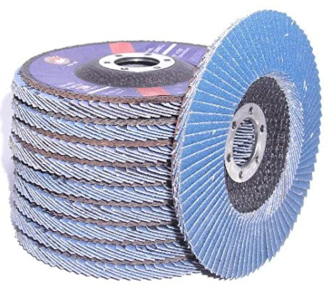 4-1//2-Inch x 7//8 Zirconia Flap Discs 40-Grit Type-29 Conical Angle Grinder Wheels 25xFD-4.5-Z#40-T-29 25-pack Canadian Tool and Supply