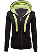 MOKAO Plus Size Fall Winter Women Autumn Casual Patchwork Long Sleeve Thin Zip Contrast Comfy Hood Hoodies Sport Jacket Coat