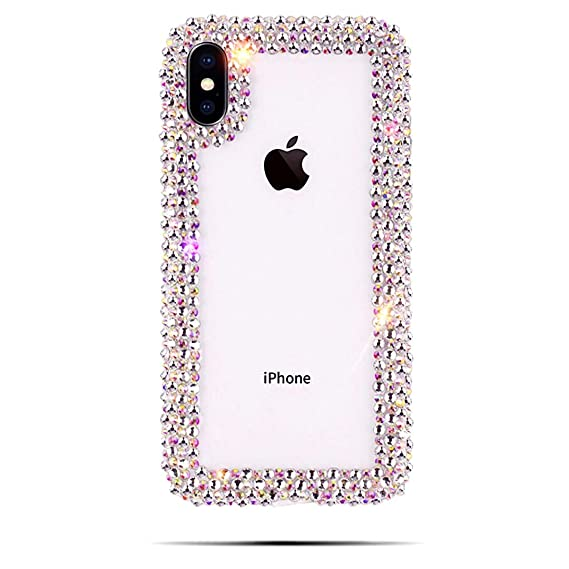 99e704aa929 Image Unavailable. Image not available for. Color   CaserBay  iPhone Case  Luxury Crystal Clear Hand-Crafted Jeweled Bling Rhinestone Phone Case