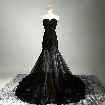 ELEGENCE-Z Vestido De Novia, Sexy Perspectiva Negro Paquete De Encaje Sujetador De La