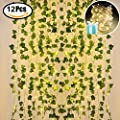 Lvydec Artificial Vines Fake Greenery Garland Leaves Hanging for Wedding Party Garden Wall Decoration