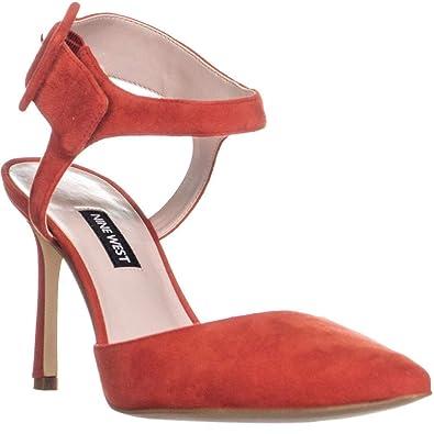 6595803ff61 Nine West Womens Elisabeti Suede Ankle Strap Pumps Red 7 Medium (B