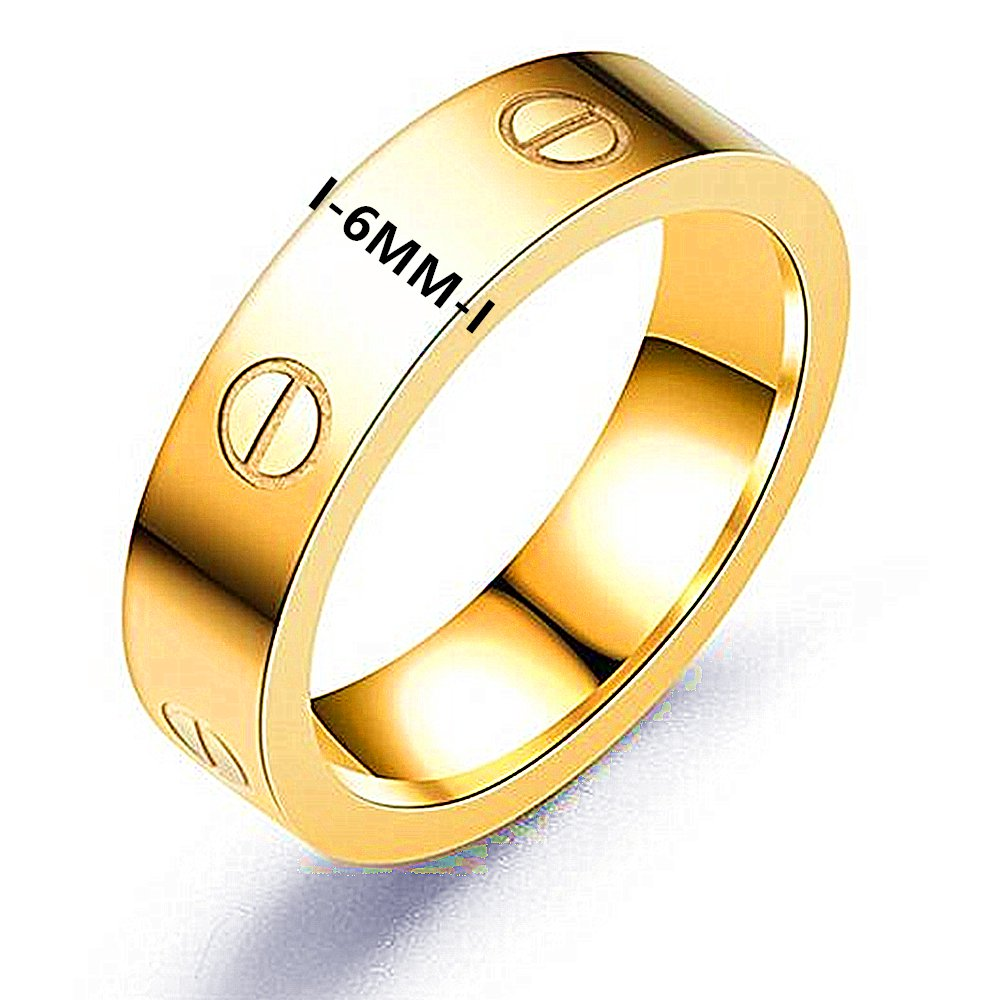 Frederic Wilkins Love Ring-Lovers Lifetime Just Love You with Gold Ring(Size: 5-10) (Gold, 6) by Frederic Wilkins (Image #3)