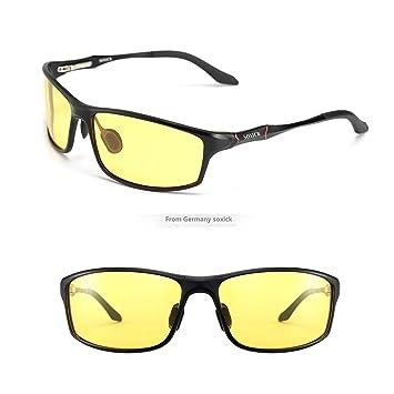 soxick HD polarizadas gafas de conducción nocturna antideslumbrante Gafas de seguridad, negro 2