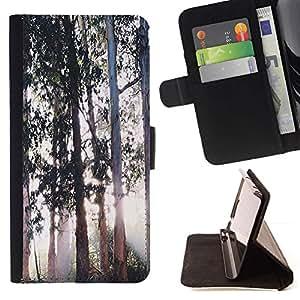 Momo Phone Case / Flip Funda de Cuero Case Cover - Árboles Magical Forest Light - Samsung Galaxy Core Prime
