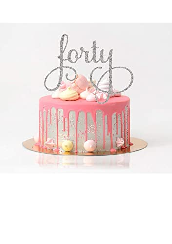 Amazon Forty Cake Topper Birthday 40th