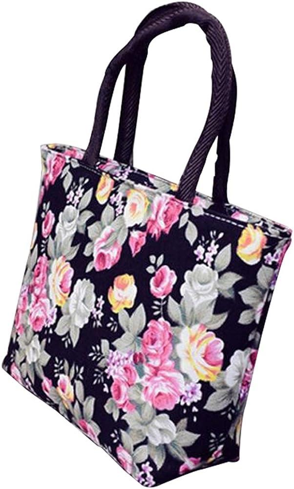 VelvxKl Borsa a tracolla stampata a fiori in tote con borsa a tracolla di grande capacit/à per le donne