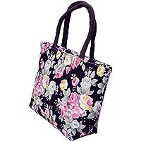 VelvxKl Borsa a tracolla stampata a fiori in tote con borsa a tracolla di grande capacità per le donne