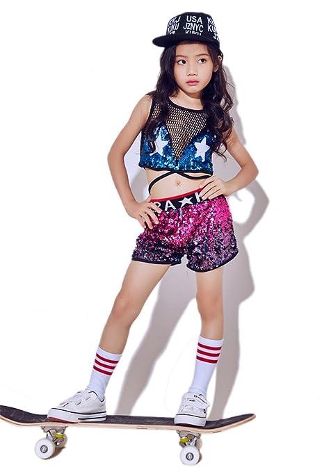 8d83d0f33f3e Moyuqi Nuovi Costumi per Bambini Girls Jazz Dance Hip-Hop Moderna Danza  Costumi da Baseball