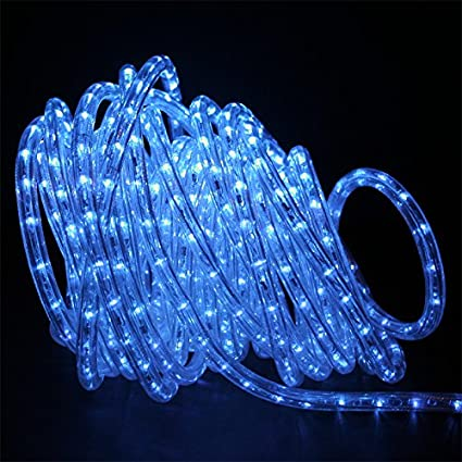 Amazon 50ft led rope lighting blue 2 wire home kitchen 50ft led rope lighting blue 2 wire aloadofball Choice Image