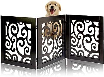 Amazon.com: Puerta de seguridad para perros – de pie libre y ...