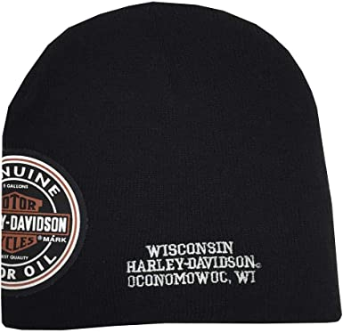 Brand New and Genuine Harley Davidson Men/'s Patch Knit Hat.