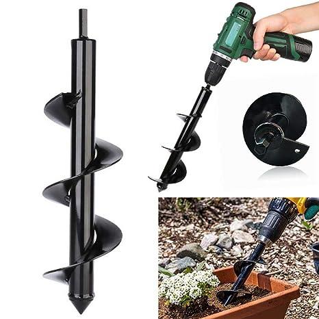 Garden Auger Spiral Drill Bit Planter Bulb Shaft Drill Plant Hole Digger Tool OX