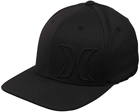 quality design 18ba7 ddfa5 Amazon.com  Hurley Men s Hermosa Flexfit Hat (Black, S-M)  Clothing