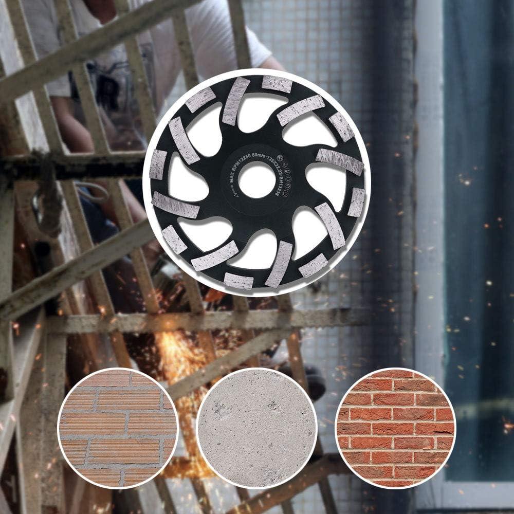piedra pulidora m/ármol cemento DZ Disco de pulido de diamante 125 mm para amoladora angular