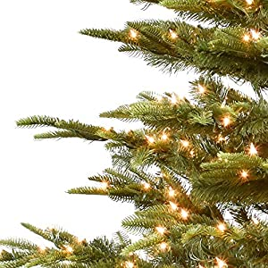 Puleo International 6.5-Foot Pre-Lit Aspen Green Fir 500 UL Clear Lights Artificial Christmas Tree Ft 2