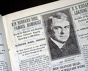 Kin Hubbard Bellefontaine Ohio American