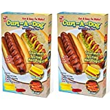 Curl-A-Dog BBQ Spiral Grilling Hot Dog Sausage Slicers Cooking Set Of 2