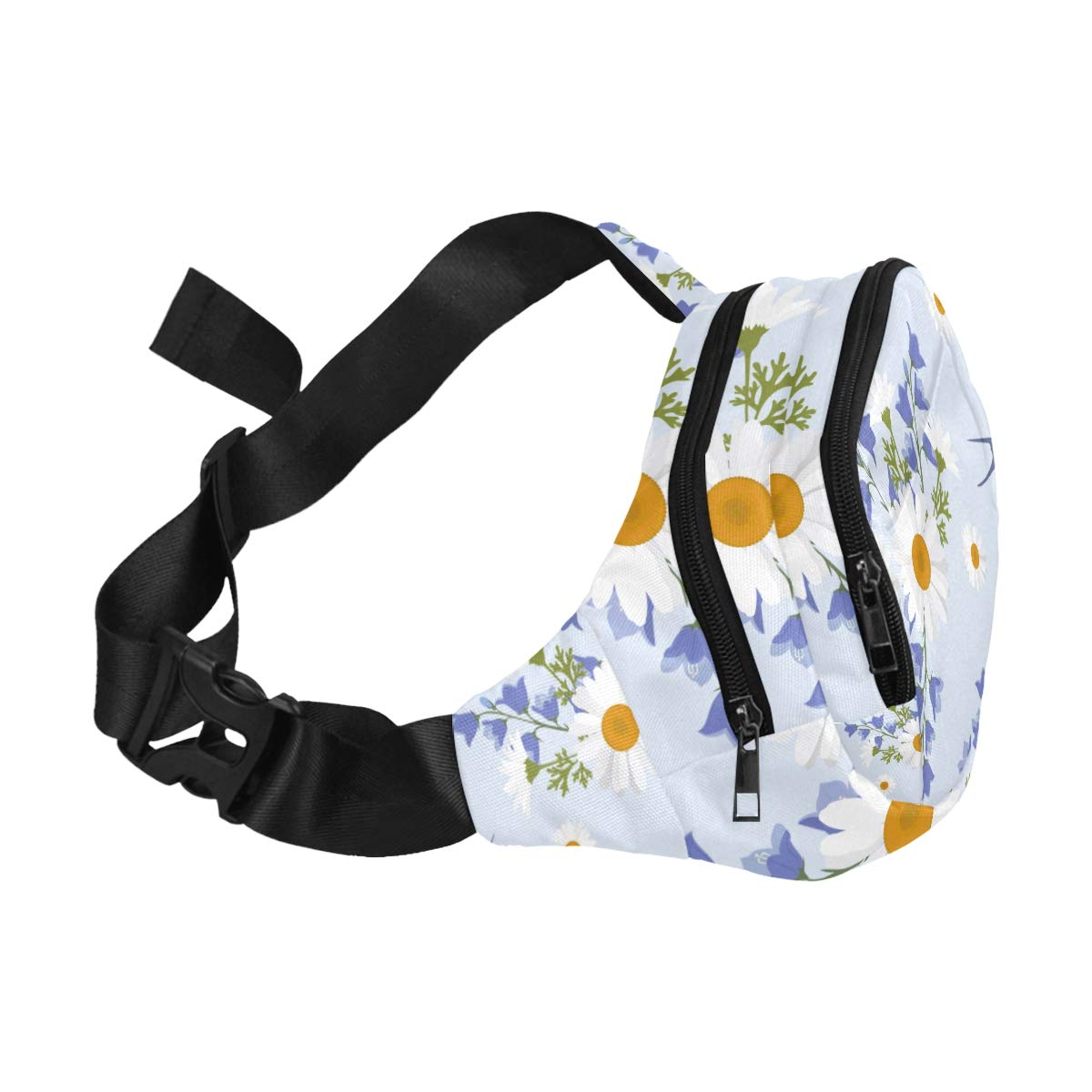 Cute Swallow Birds And Flowers Fenny Packs Waist Bags Adjustable Belt Waterproof Nylon Travel Running Sport Vacation Party For Men Women Boys Girls Kids