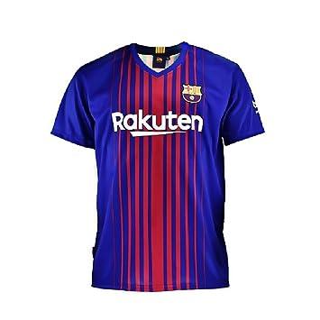 Camiseta 1ª Equipación Replica Oficial FC BARCELONA 2017-2018 Sin Dorsal LISO - Tallaje NIÑO JUNIOR (14 AÑOS): Amazon.es: Deportes y aire libre