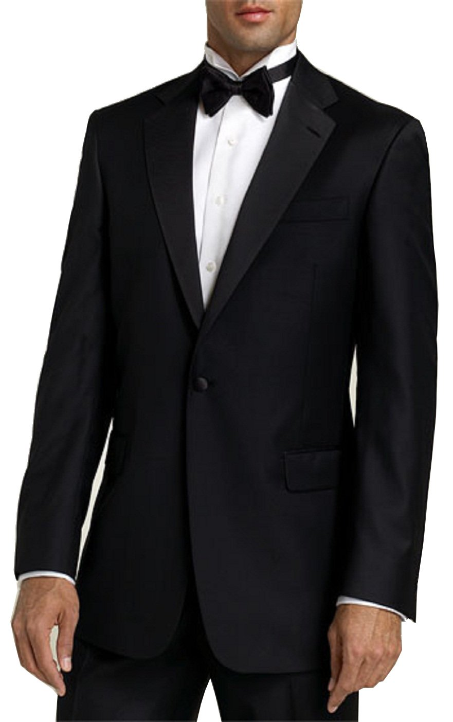 Neil Allyn Tuxedo with Pleated Front, Adjustable Waist Pants - 40L Black by Neil Allyn