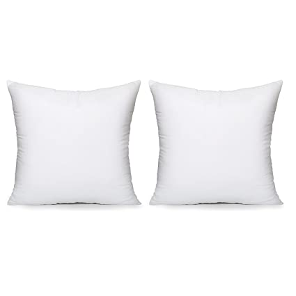 Amazon Acanva Hypoallergenic Pillow Insert Form Cushion Euro Delectable Small Pillow Inserts