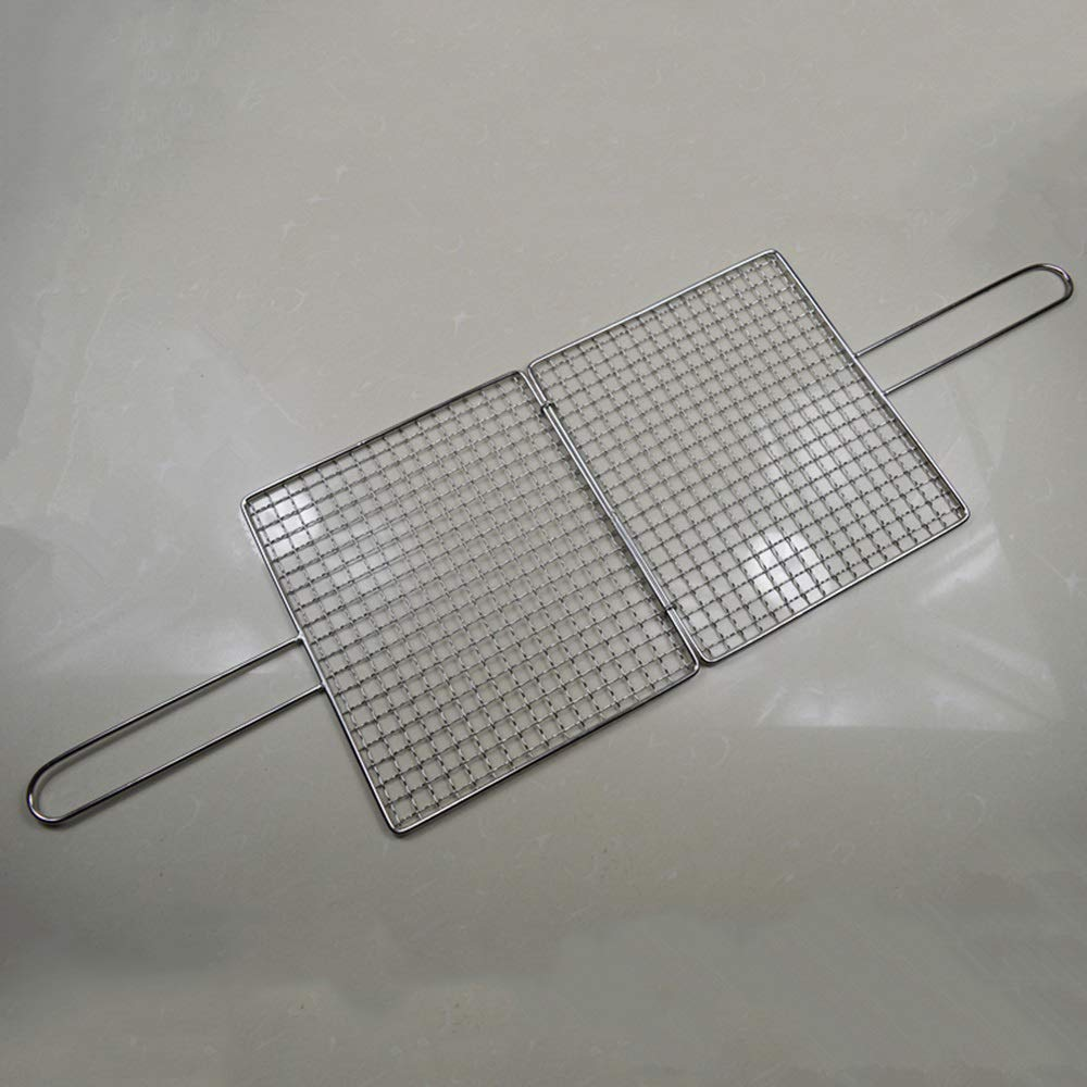 ROIY Bold 304 Stainless Steel Grilled Food Clip Grill Net Folder Grill Grilled Fish Net Grill Tempo Grilled Fish Clip by ROIY