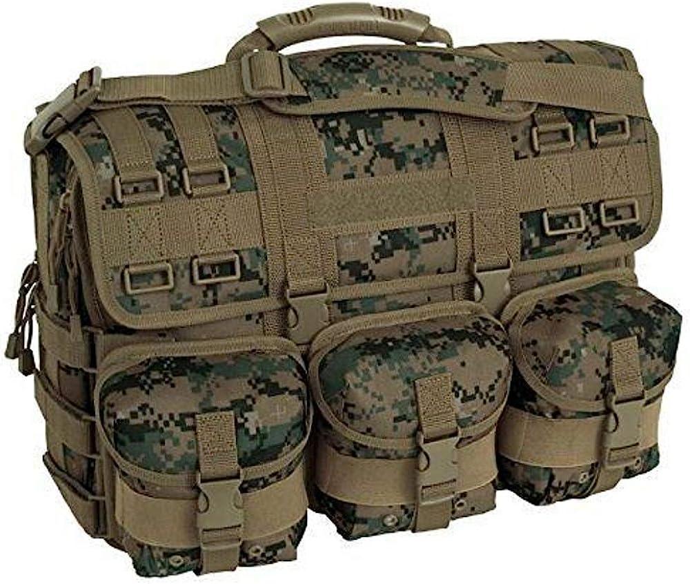 MWS Marpat Woodland Camo MOLLE Tactical Laptop Field Briefcase Shoulder Bag