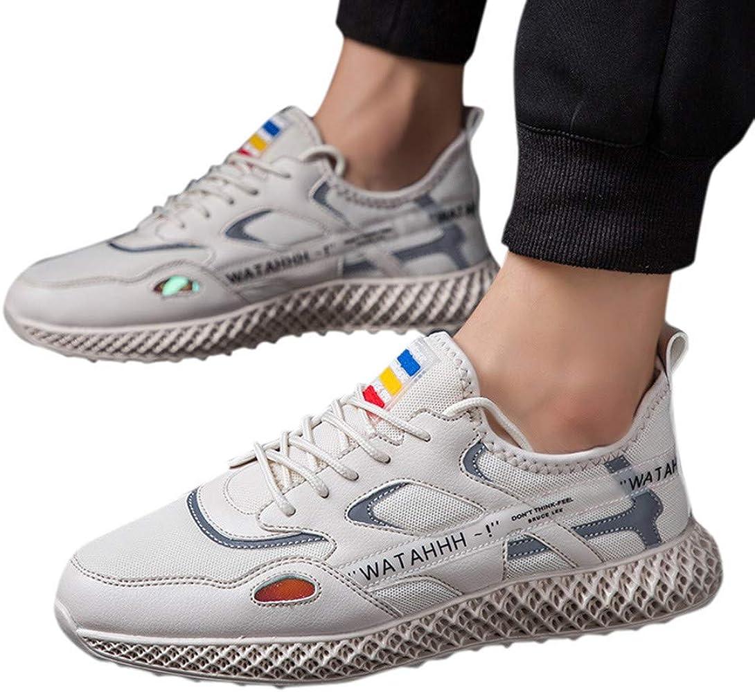 ZARLLE Zapatillas para Hombre,Zapatos de Cordones,Zapatos Running ...
