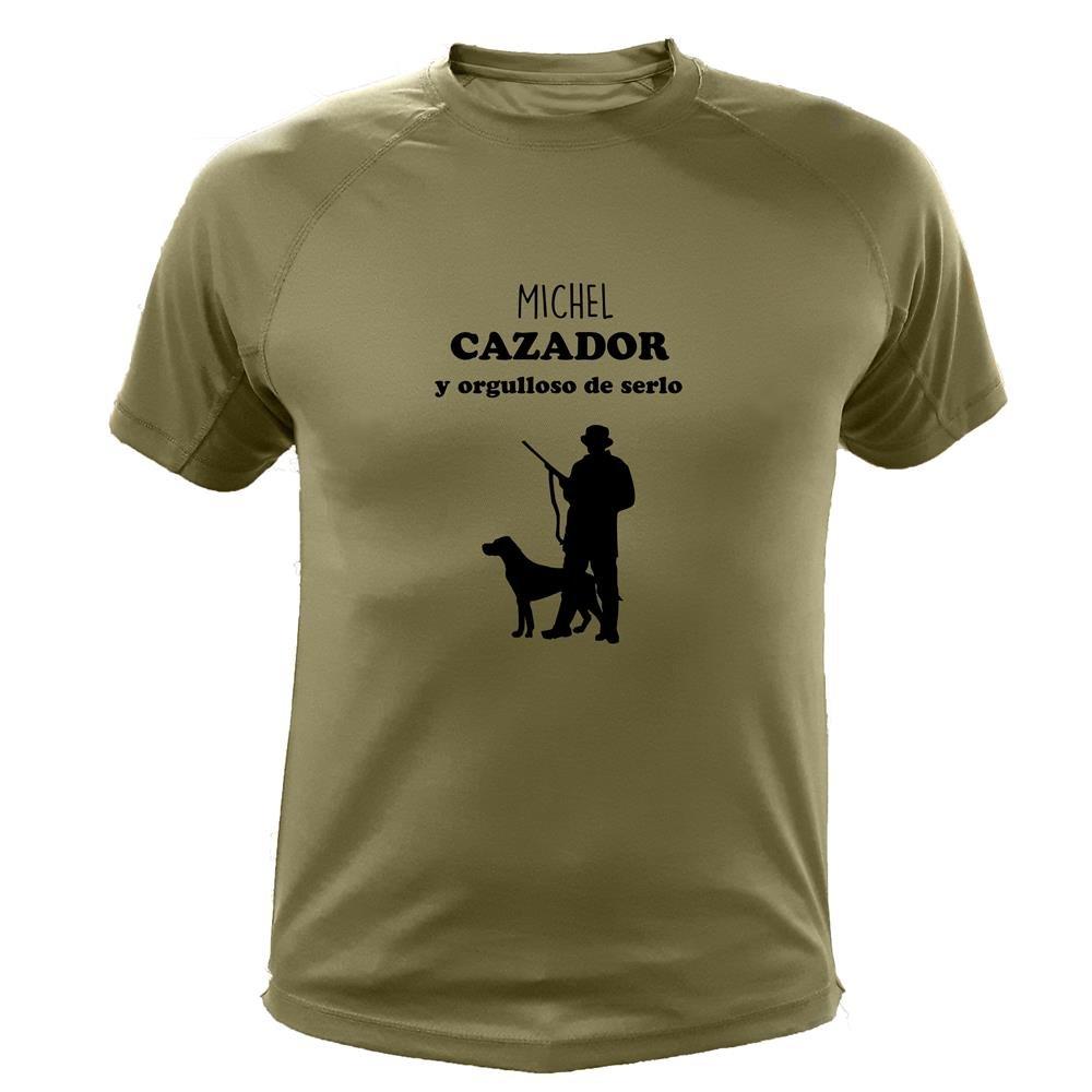 Cazador y Orgulloso de Serlo con personalizaci/ón Camiseta de Caza