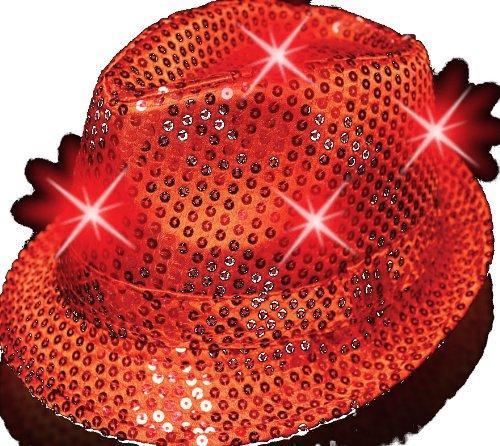 Supreme Party & Novelties LED Fedora, Red