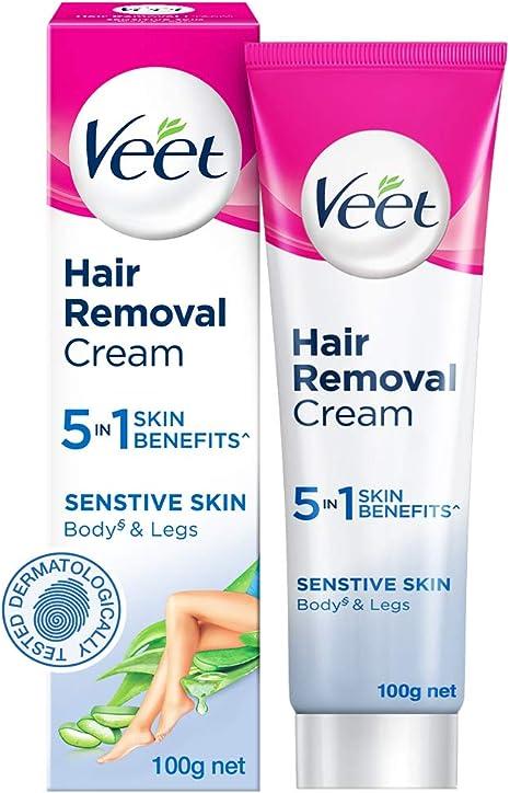 Veet Silk Fresh Hair Removal Cream Sensitive Skin 100 G Amazon Co Uk Health Personal Care