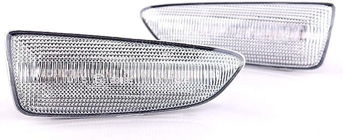 2 x LED Intermitentes laterales intermitentes din/ámicos con certificado E White Vision V-171903LG