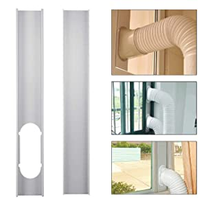 Jiecikou Universal Window Seal Set for Portable Air Conditioner and Tumble Dryer - Works with Every Mobile Air-Conditioning Unit, Window Kit Plate (2Pcs)