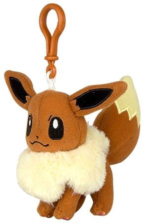 TOMY – t19380 – Llavero de Peluche, diseño de Pokémon evoli y su Desarrollo Niveles