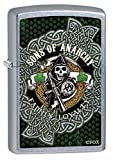 Zippo Custom Lighter: Sons of Anarchy Ireland Shamrocks - Street Chrome 78930