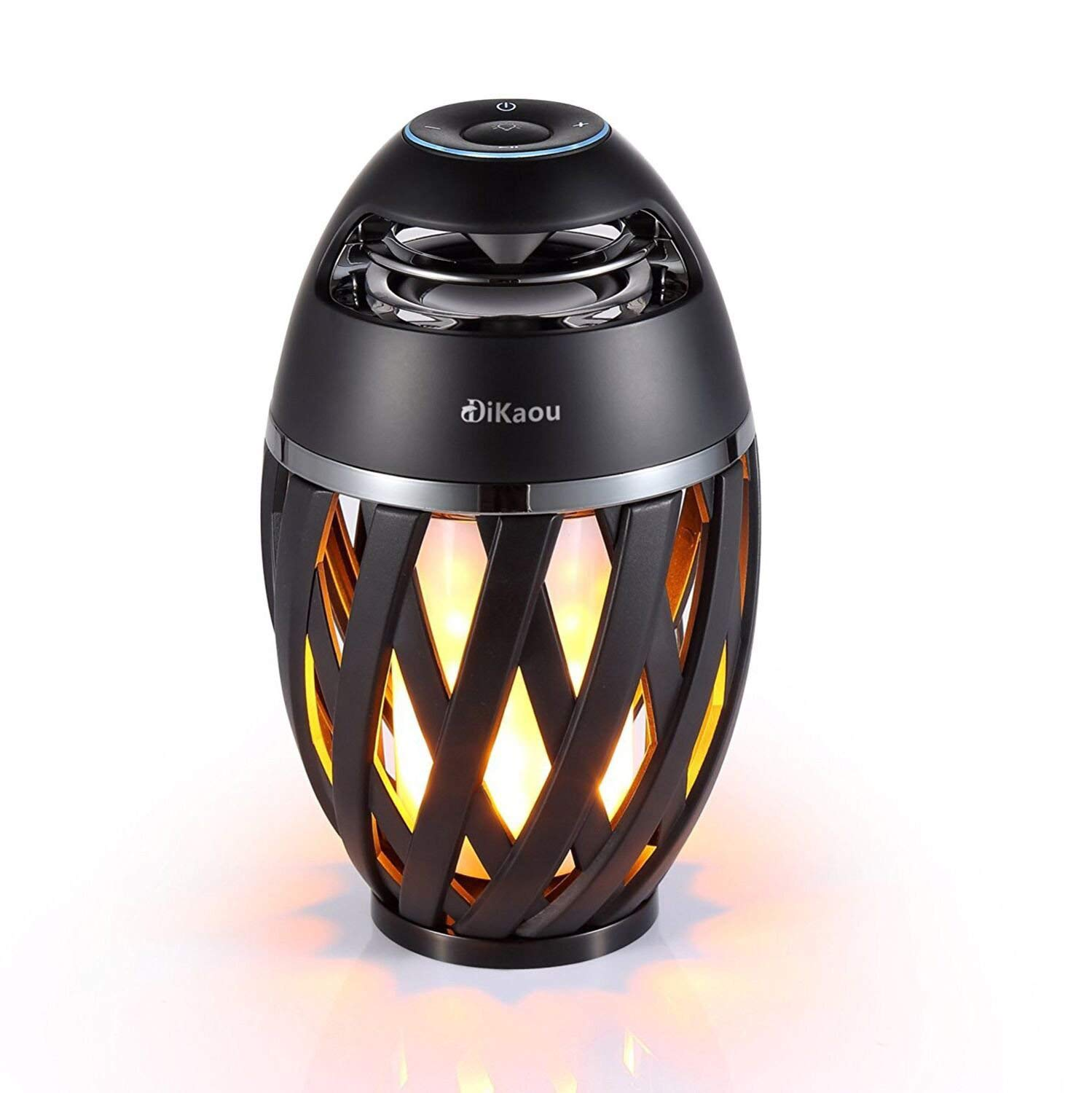 DIKAOU Led Flame Speaker, Torch Atmosphere Bluetooth Speakers&Outdoor Portable Stereo Speaker with HD Audio and Enhanced Bass,LED Flickers Warm Yellow Lights BT4.2 for iPhone/iPad/Android