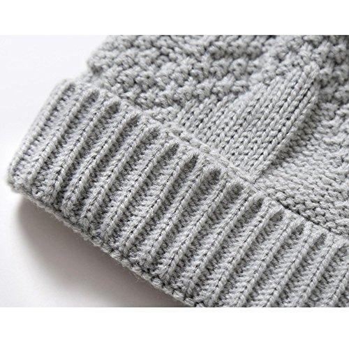 señoras Sombreros sombreros beanie Halloween Men Navidad de Gray oscuro Sombreros MASTER Light invierno gris tejidos caliente sombreros Gorros F8UzzxqW