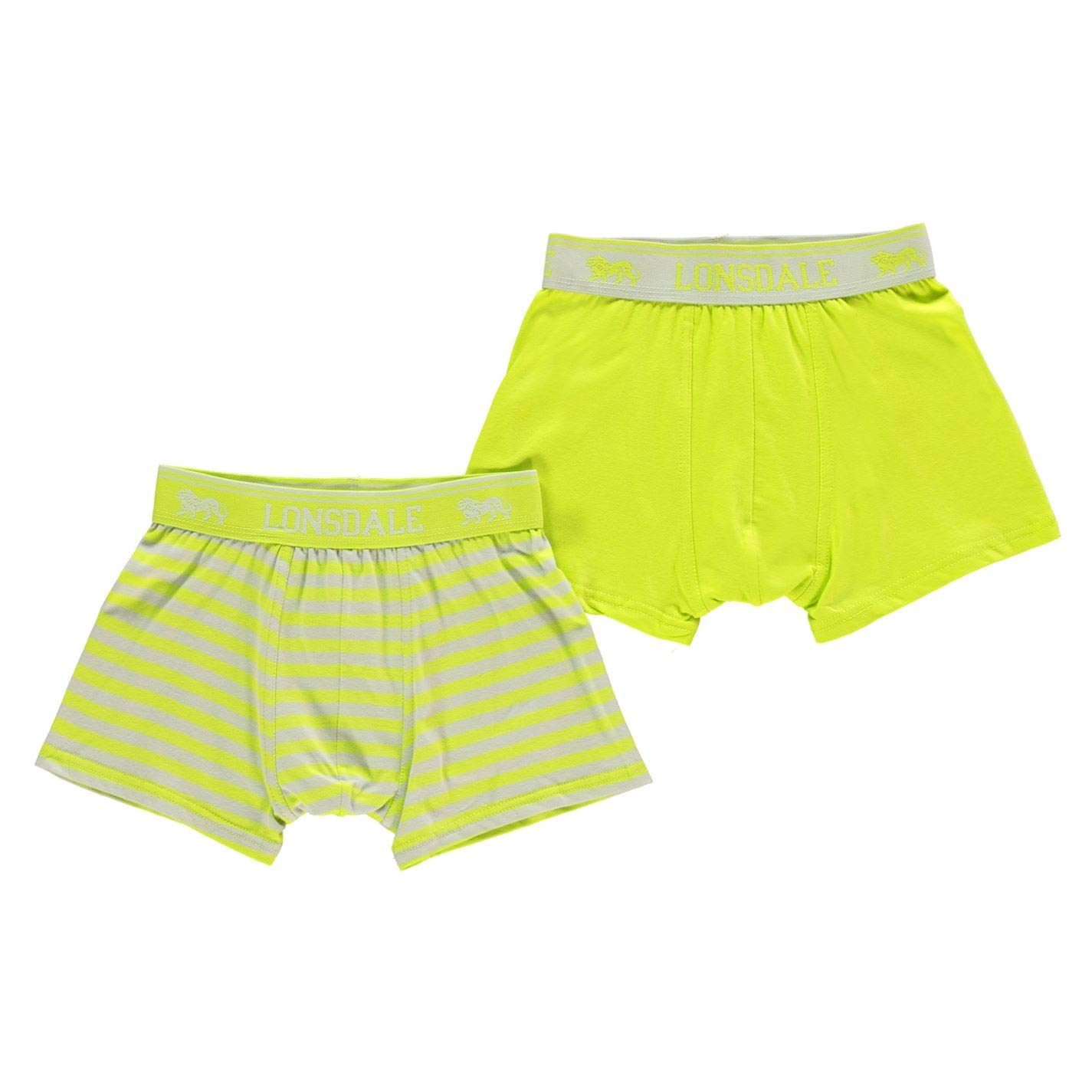 Lonsdale Kids 2 Pack Trunk Junior Boys Boxersband