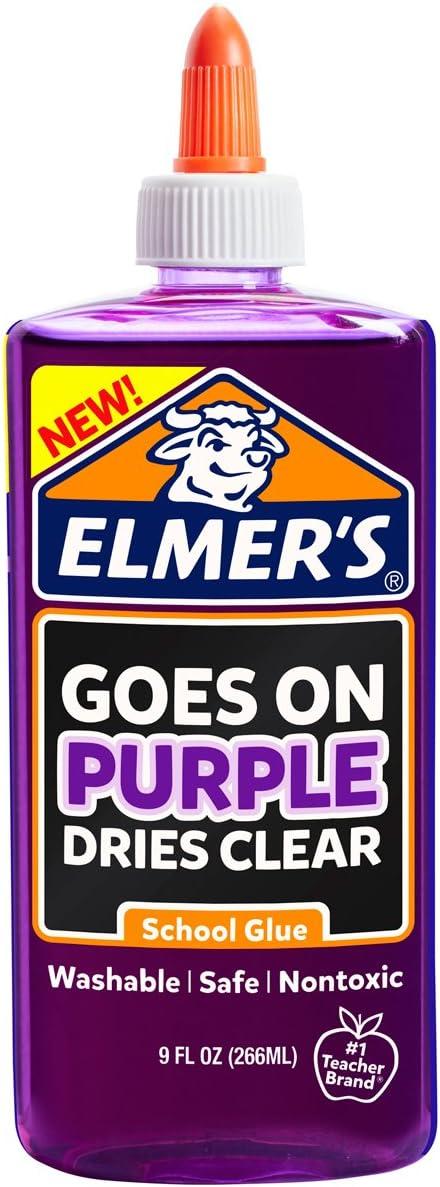 Elmer's Disappearing Purple Liquid School Glue Coun OFFicial mail order 9-Ounces Cheap sale 1