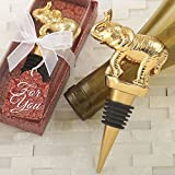 Good Fortune Elephant Design Gold Wine Bottle Stopper (72)