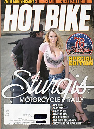 Hot Bike 2016 Magazine 76TH ANNIVERSARY STURGIS MOTORCYCLE RALLY EDITION (Used Simpson Helmet)