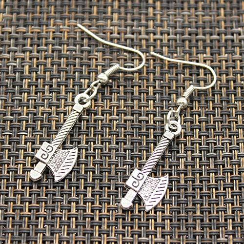 Drop Earrings - New Fashion Handmade Dagger ax Tomahawk Sword Police Baton Pestle Pendants Silver Earrings for Womens Style - by ptk12-1 PCs ()