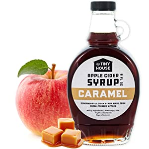 The Tiny House Southern Caramel Apple Cider Syrup | Handmade Concentrated Cider Syrup from Fresh Pressed Apples & Sweet Caramel | A Perfect Breakfast Syrup & Pancake Syrup | Proudly Made in the USA | 8 Ounce Bottle