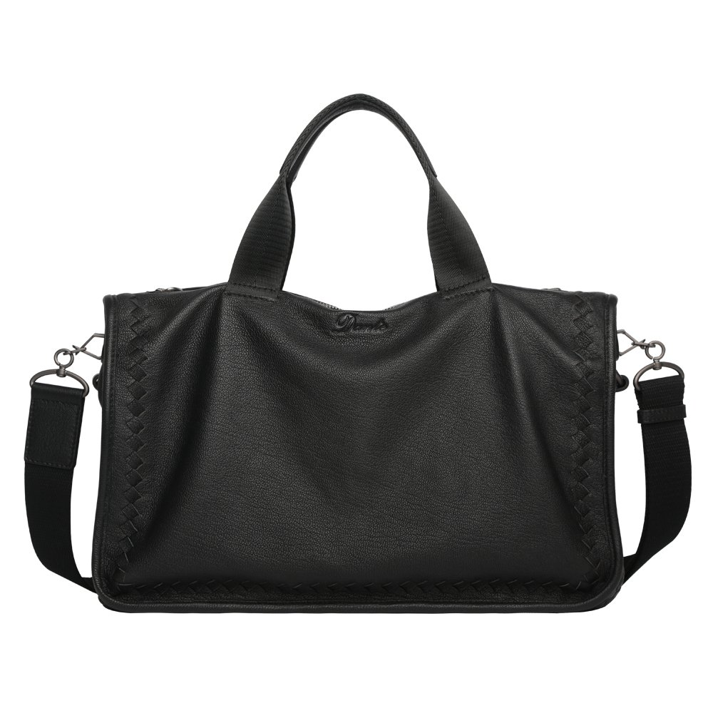 Leather Tote Large CapacityTop-Handle Bag Carry-All & Organiser Travel Holdall